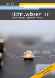"""licht.wissen 17 """"LED: Grundlagen – Applikation – Wirkung"""""""