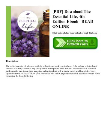 [PDF] Download The Essential Life  4th Edition Ebook  READ ONLINE