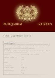 "Gussöfen Antiquariat Ofen ""Wurmbach Braun"" - Antike Gussöfen Koch"