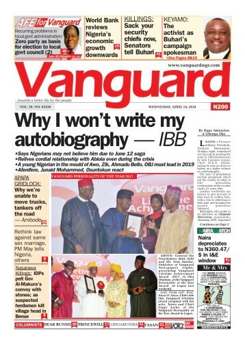 18042018 - Why I won't write my autobiography — IBB