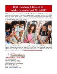 Best Coaching Classes For Srishti School of Art in Delhi