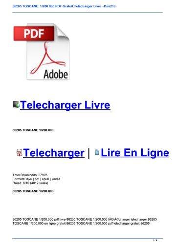 86205 TOSCANE  1/200.000 PDF Gratuit Télécharger Livre ~Dire219