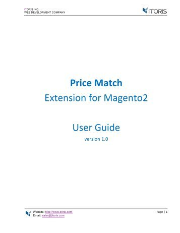 Magento 2 Price Match Extension by ITORIS INC
