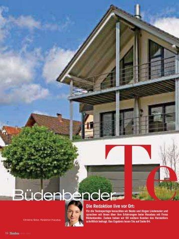 TeDie Redaktion live vor Ort - Büdenbender Hausbau GmbH