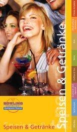 Speisen & Getränke - Bowlingcenter Purgstall