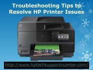 Troubleshooting Tips to Resolve HP Printer Issues