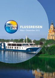 THOMASCOOK Flussreisen 2012