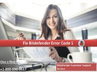 Fix Bitdefender Error Code 1
