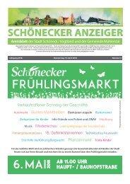 Schönecker Anzeiger April 2018
