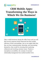 CRM Mobile Apps: Transforming the Ways in Which We Do Business!