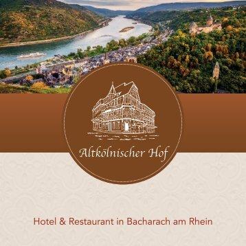 Hotel Altkölnischer Hof in Bacharach - Booklet