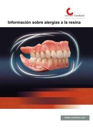 Información sobre alergias a la resina - Candulor