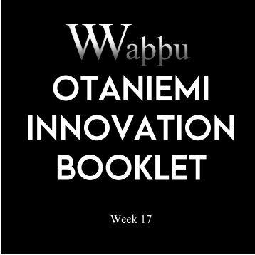 Otaniemi Innovation Booklet - Week 17