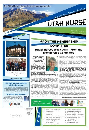Utah Nurse - May 2018