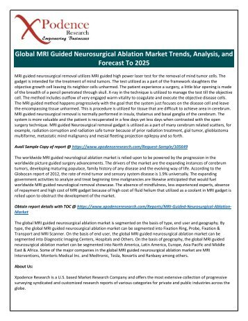 MRI Guided Neurosurgical Ablation Market will grow in the upcoming year with Leading Key players Medtronic, Tesla, etc.