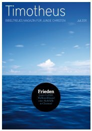 Timotheus Magazin #4 - Friede