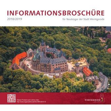 Informationsbroschüre für Neubürger der Stadt Wernigerode 2018/2019