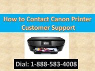 Canon Printer Support 1-888-583-4008 Number | Call Customer Service Number