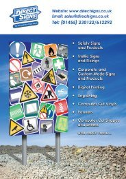 Direct Signs (UK) Ltd Catalogue 2017 v2