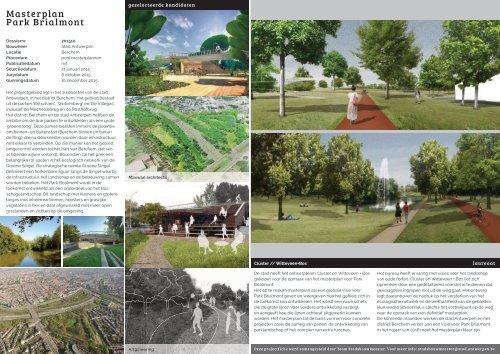 Wedstrijdfiche Masterplan Park Brialmont