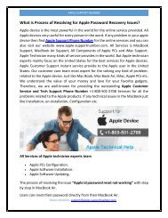 What is Process of Resolving for Apple Password Recovery Issues