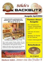 Bäckerei Sölch ...immer eine Idee frischer !!!