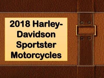 2018 Harley-Davidson Sportster Motorcycles
