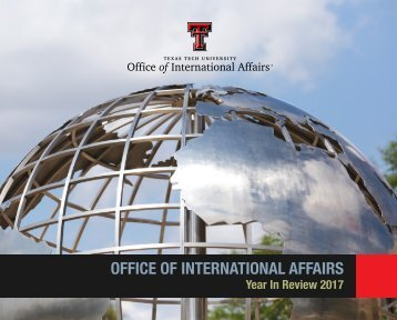 Office of International Affairs - Year in Review 2017
