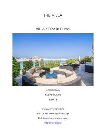 Villa Korra - Dubai