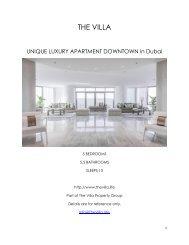 Unique Luxury Apartment Downtown - Dubai