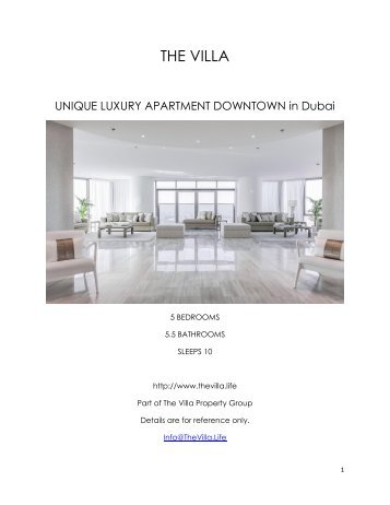 Unique Luxury Apartment Downtown - Dubai