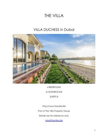 Villa Duchess  - Dubai