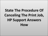 State The Procedure Of Canceling The Print Job, HP Support Answers How