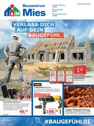 i&M Bauzentrum Mies: #Baugefühl01