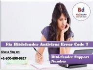 Fix Bitdefender Antivirus Error Code 7