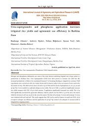 Urea-supergranules and phosphorus application increases irrigated rice yields and agronomic use efficiency in Burkina Faso