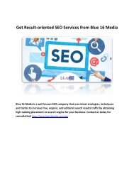 Get Result-oriented SEO Services from Blue 16 Media