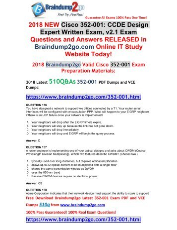 [2018-4-New]Braindump2go 352-001 Dumps PDF Free Share(156-176)