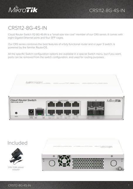 CRS112-8G-4S-IN mikrotik - mstream.com.ua