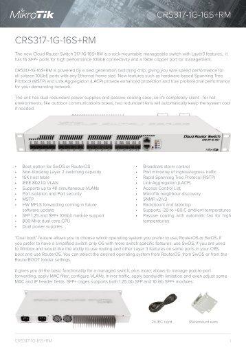 CRS317-1G-16S+ mikrotik  - mstream.com.ua