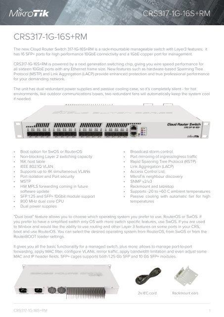 CRS317-1G-16S+ mikrotik - mstream com ua