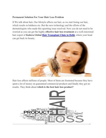 Permanent Solution For Your Hair Loss Problem (1)