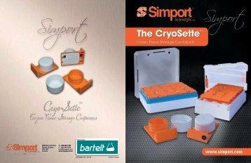 Markteinführung: Simport Cryosette - Entnahme, Transport und Lagerung von gefrorenen Proben