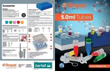 Markteinführung: Simport Tubes 5ml für eine einfache Probenhandhabung