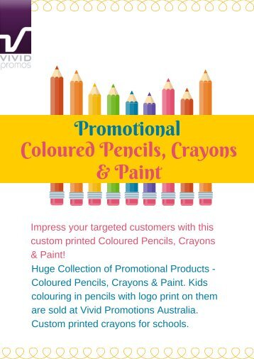Personalised Coloured Pencils, Crayons & Paint | Vivid Promotions