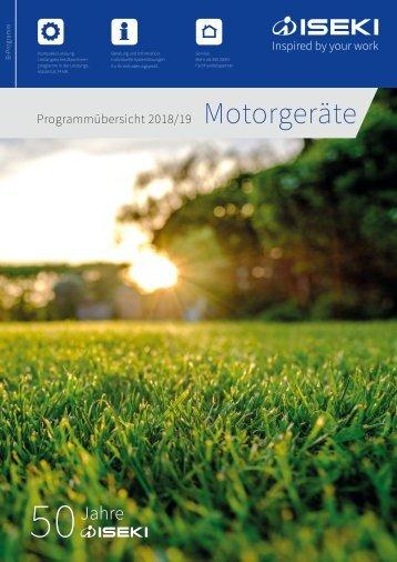 ISEKI Motorgeräte-Katalog 2018/2019
