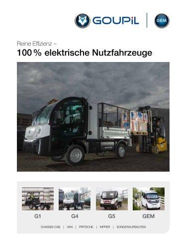 Goupil Übersichtsbroschüre 2018