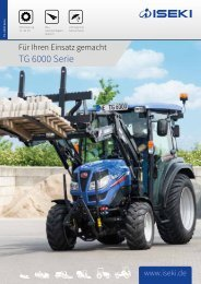 ISEKI Traktoren TG 6000 Broschüre