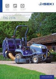 ISEKI Traktor TXG 237 Broschüre