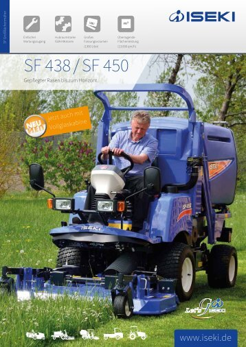 ISEKI Großflächenmäher SF 438 / SF 450